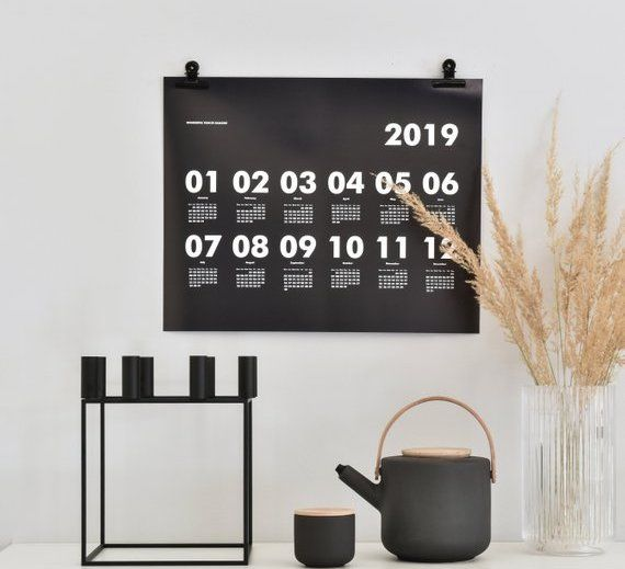 Top 20 Calendars 2019 from various designers.