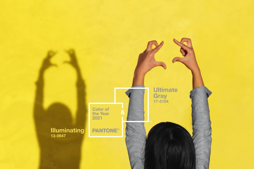 A light of hope from the shadow, meet the new Pantone colors of 2021: 17-5104 Ultimate Gray & 13-0647 Illuminating